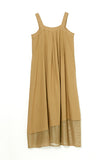 MESH DOCKING JUMPER SKIRT-52 BEIGE / 0