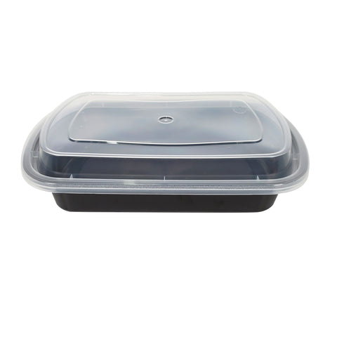Black Plastic Take-out Container