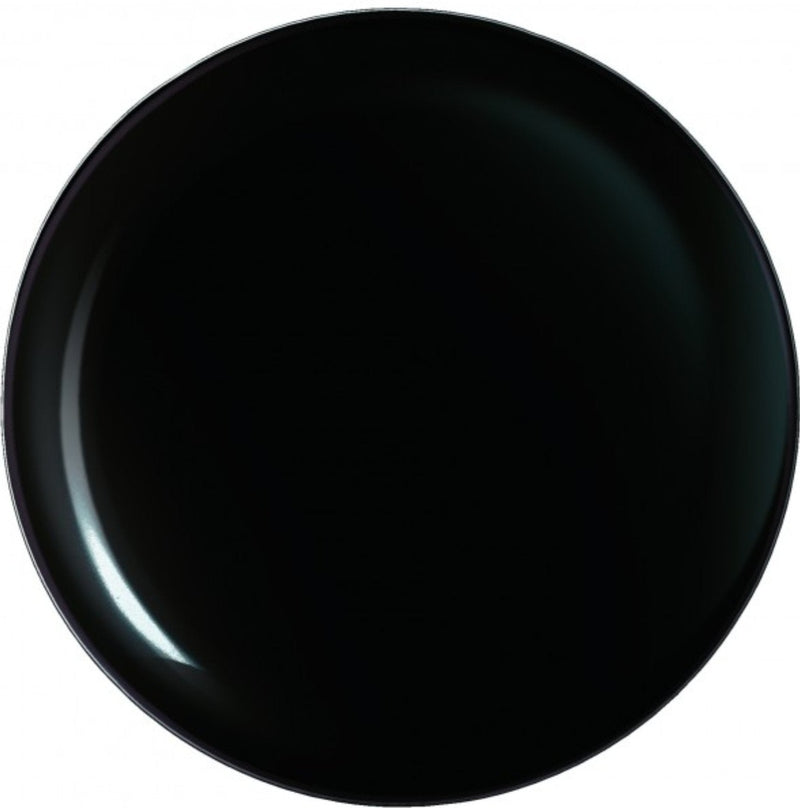 "Arcoroc - 10 5/8"" Coupe Plate - Black"