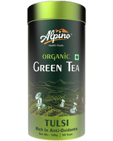 Alpino Certified Organic Green Tea - Tulsi