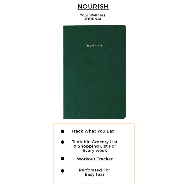 B6 - Nourish - Wellness Journal - 120gsm - Sacramento Green