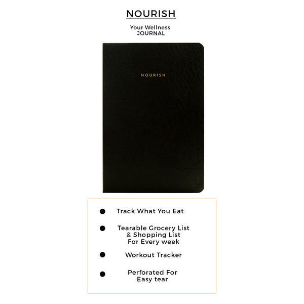 B6 - Nourish - Wellness Journal - 120gsm - Classic Black