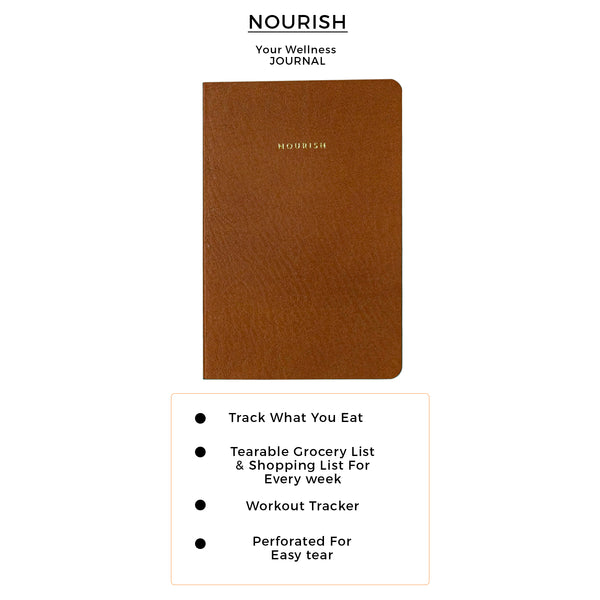 B6 - Nourish - Wellness Journal - 120gsm - Walnut Brown