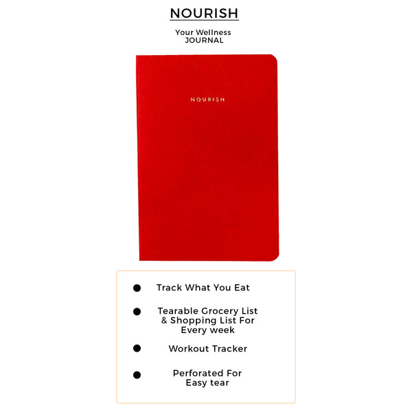 B6 - Nourish - Wellness Journal - 120gsm - Red