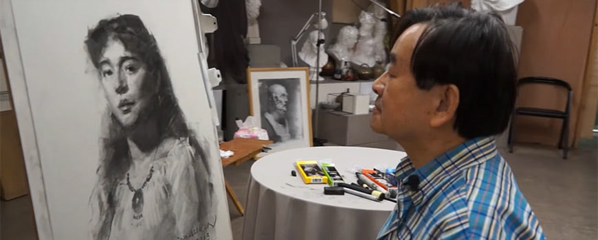 Charcoal Portrait by a Master