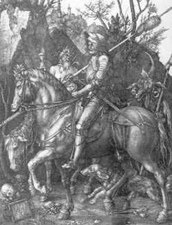 """""""Knight, Death, And The Devil"""" by Albrecht Durer"""