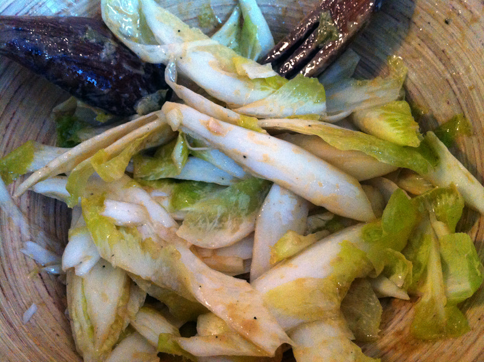 Belgian Endive with olive oil, dijon mustard and balsamic