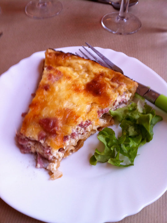 Quiche with a Cote du Rhone