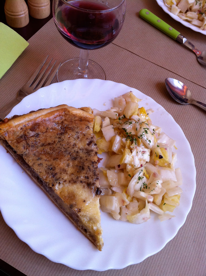 Fromage Tart with an Endive Salad