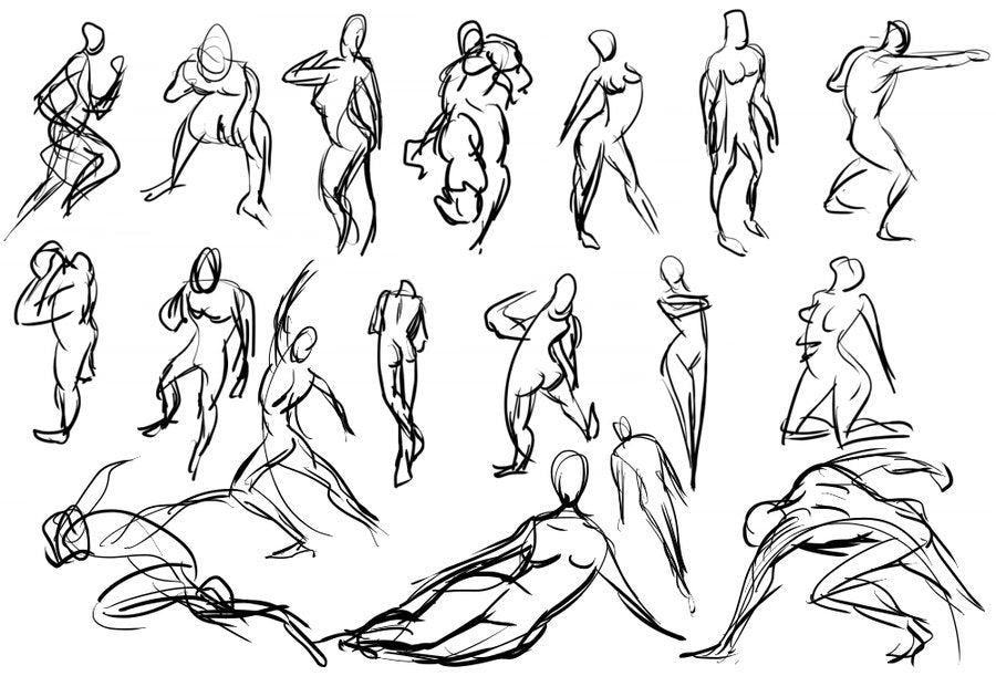 Gesture Drawing Practice by Pierre Rechatin