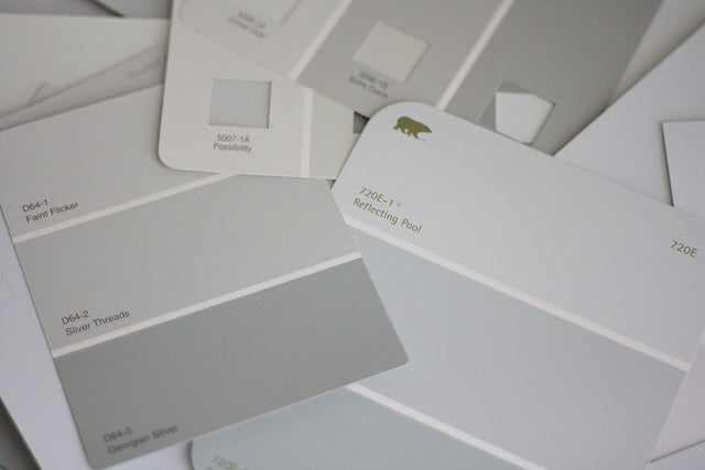 Grey Paint Swatches