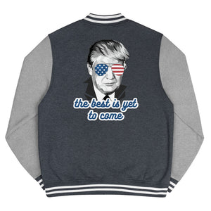 The Best Is Yet To Come - Men's Letterman Jacket