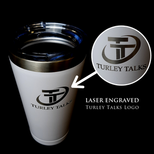 Turley Talks Insulated Stainless Steel Coffee Tumbler