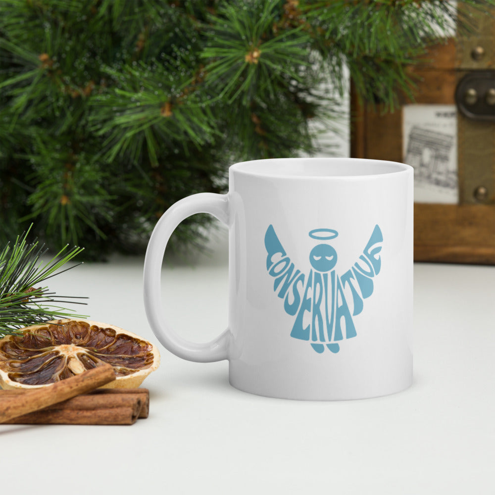 Conservative Angel - White glossy mug