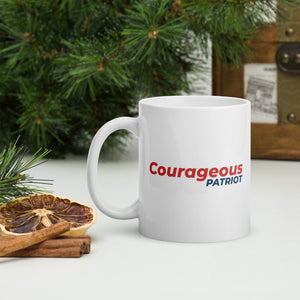Courageous Patriot 1 - White glossy mug