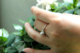 Couple of Lily of the Valley 925 Silver Band Ring