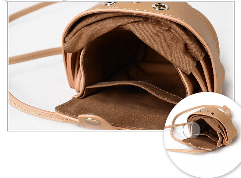 Small Beetle Crossbody Leather Bag Sale