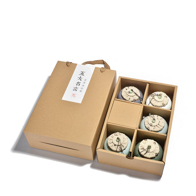 Klin Celadon Tea Jars set of 5 Gift Box