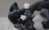 Cherry Blossom Silver Stud Earrings