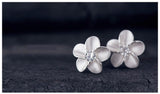 Silver Flowers Earrings