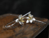 Lotus Flower Silver and Gold Earrings