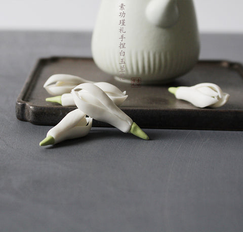 White Magnolia  Tea Decoration set of 5