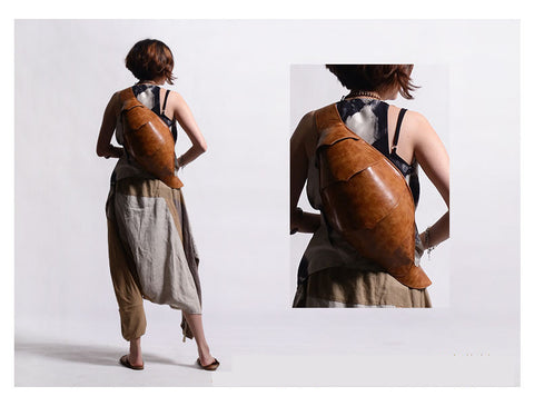 Promotion Beetle Chest Bag Leather Messenger Backpack