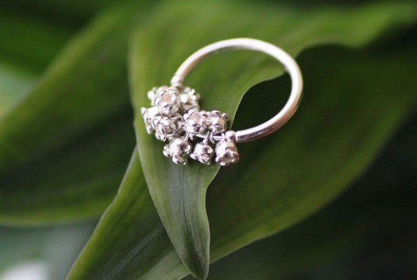 Lily of the Valley 925 Silver Band Ring