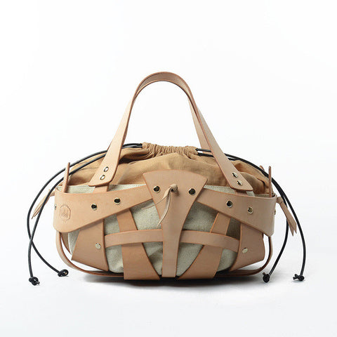 Geometric Cutout Leather Shoulder Bag
