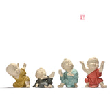 Celadon Buddha set of 4