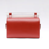 Large Leather YA Box Bag | Brick