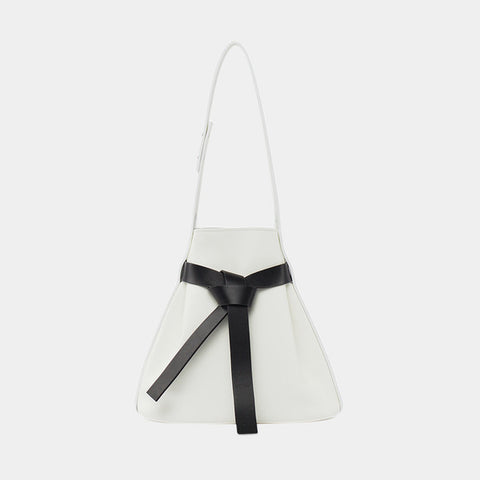 Promotion Bow Drawstring Bucket Bag| Black