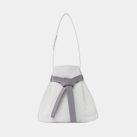 Promotion Bow Drawstring Bucket Bag | Gray