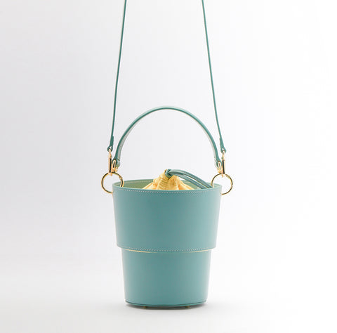Adjustable Size Bucket Bag | Blue