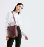 Leather Tote with Adjustable Strap -SALE