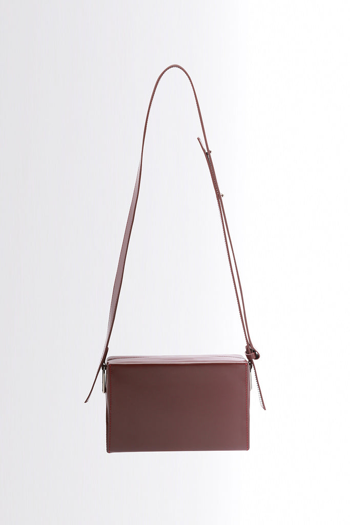 Small Leather Box Bag | Brown