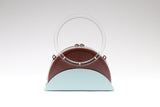 Half Moon Box Bag Two tone | Brown