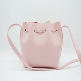 Leather Bucket Bag | Light Pink