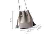 Promotion Leather Tassel Bucket Bag | Summer