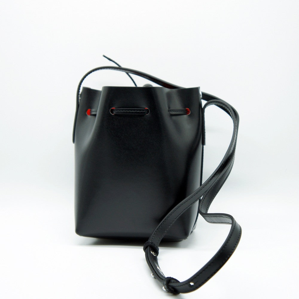 Promotion Leather Bucket Bag | Black
