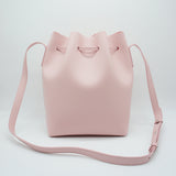 Promotion Leather Bucket Bag | Light Pink