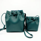 Leather Bucket Bag | Green