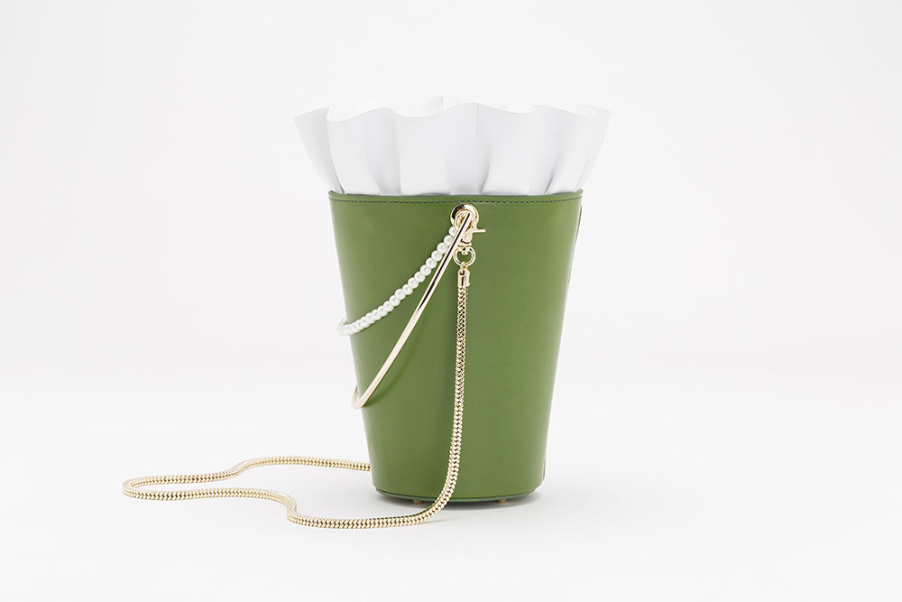 Bucket Bag With Frill | Green