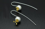24K Yellow Gold & Sterling Silver Berry Drop Earrings
