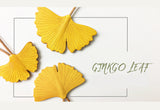 Ginkgo Leaf Handmade Leather Keychain