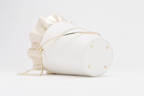 Bucket Bag With Frill | White