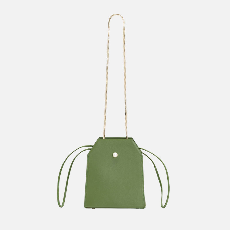 Box Bag with Chain | Green