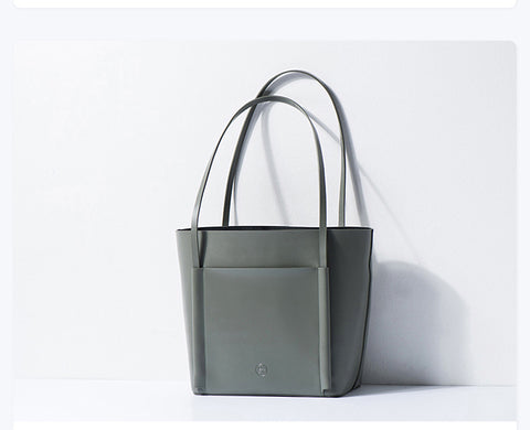 Seamless Tote Leather Handbag - SALE