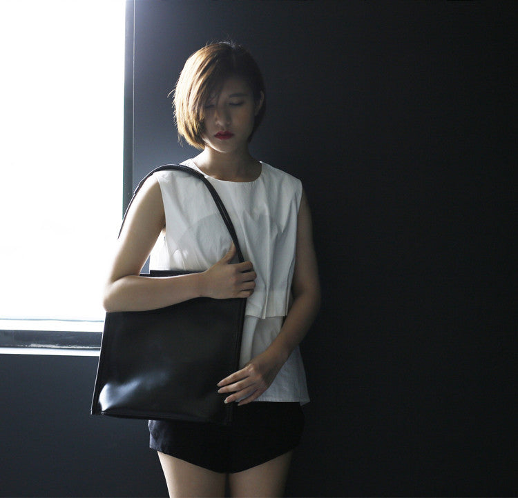 Large Square Handmade Shoulder Bag