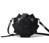 Round Leather Shoulder Beetle Bag
